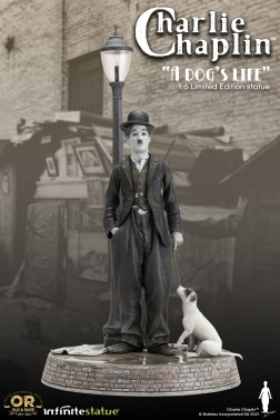 Charlie Chaplin A Dog's Life -lampione con luce led