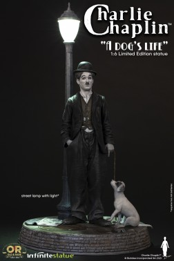 CHARLIE CHAPLIN W/LIGHT OLD&RARE STATUE-3