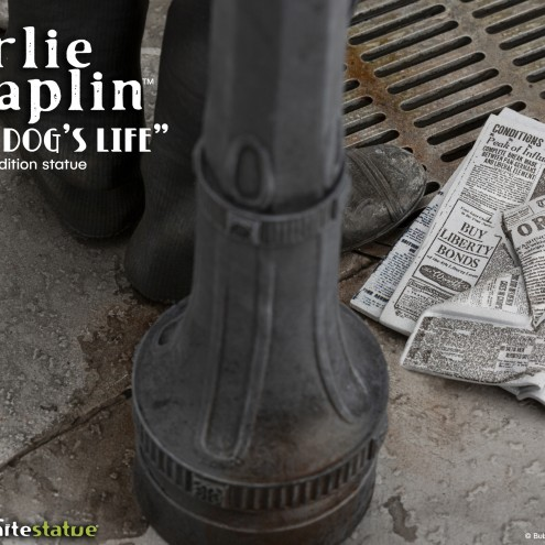 Charlie Chaplin A Dog's Life limited edition - dettaglio lampione
