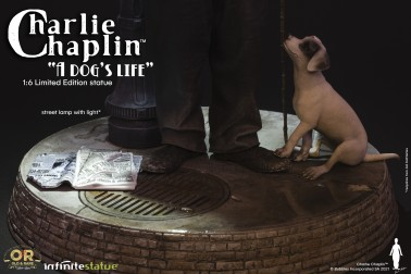 CHARLIE CHAPLIN W/LIGHT OLD&RARE STATUE - 9