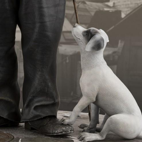 Charlie Chaplin A Dog's Life limited edition - dettaglio cane