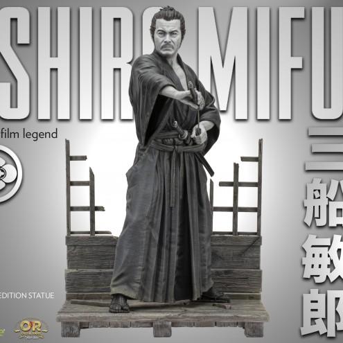 Toshiro Mifune statua in resina del grande attore giapponese