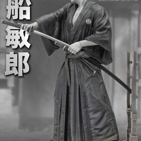 Toshiro Mifune Old&Rare 1/6 Resin Statue - profilo