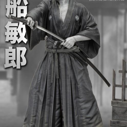Toshiro Mifune statua in resina unica nel suo genere