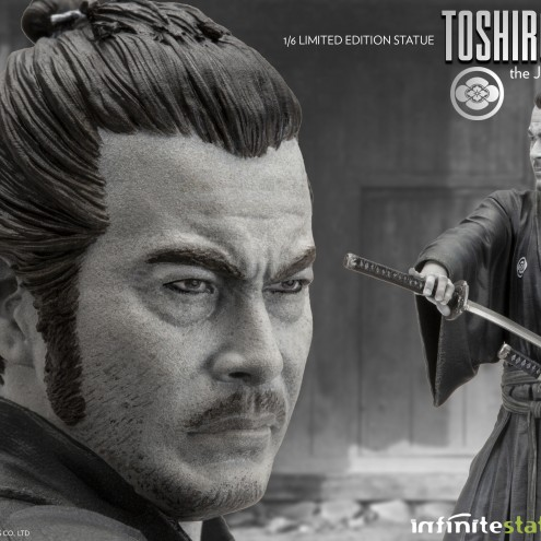 Toshiro Mifune Old&Rare 1/6 Resin Statue - dettaglio testa