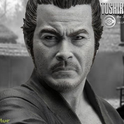 Toshiro Mifune Old&Rare 1/6 Resin Statue - dettaglio viso