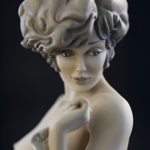 The statue of Mona Street UL sepiacolouration - 1