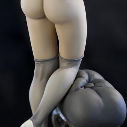 The statue of Mona Street UL sepiacolouration - 3