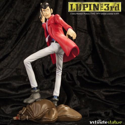 Statua Edizione Limitata Lupin III in resina dipinta a mano - 2
