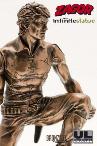 """Zagor ULZagor statua """"effetto bronzo"""" - 1"""