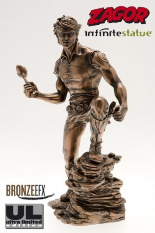 """Zagor ULZagor statua """"effetto bronzo"""" - 3"""