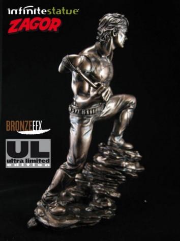 """Zagor ULZagor statua """"effetto bronzo"""" - 4"""