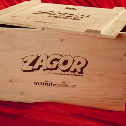 Confezione in legno stile westner con serigrafie logo Zagor - 1