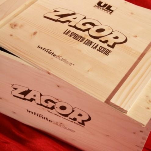 Confezione in legno stile westner con serigrafie logo Zagor - 2