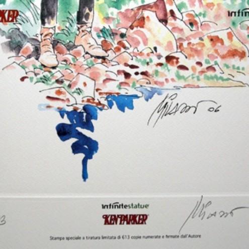 Litografia di Ken Parker numerata e firmata da Ivo Milazzo - 2