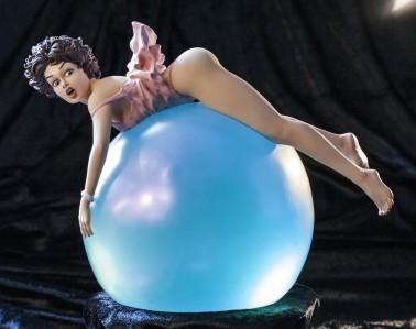 Little EGO| Bubble Dreamstatuadipinta e rifinita a mano -5