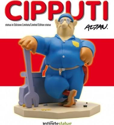 Statua di Cipputi operaio metalmeccanico in tuta blu - 1