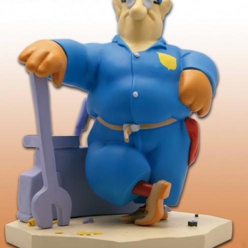 Statua di Cipputi operaio metalmeccanico in tuta blu - 2