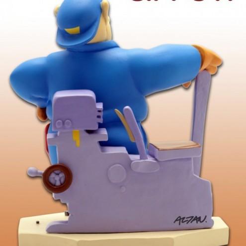 Statua di Cipputi operaio metalmeccanico in tuta blu - 4
