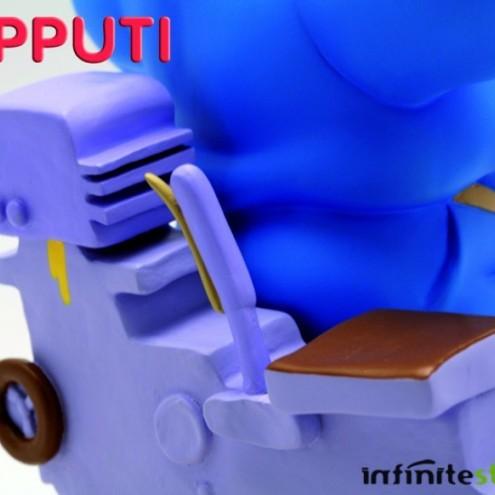 Statua di Cipputi operaio metalmeccanico in tuta blu - 5