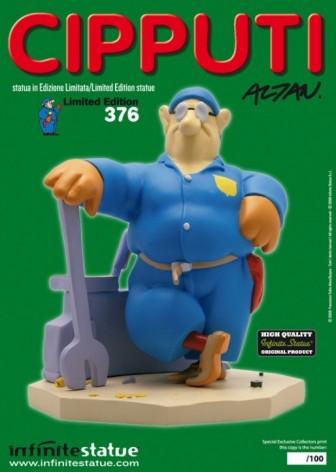 Statua di Cipputi operaio metalmeccanico in tuta blu - 6