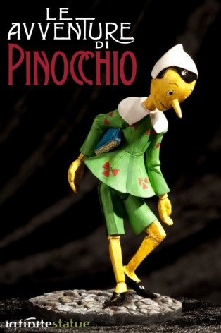 Statua in resina di Pinocchio rifinita e dipinta mano - 1
