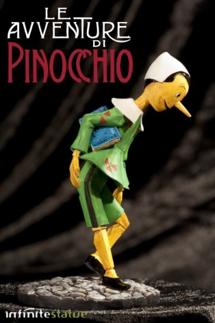Statua in resina di Pinocchio rifinita e dipinta mano - 2