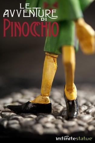 Statua in resina di Pinocchio rifinita e dipinta mano - 4