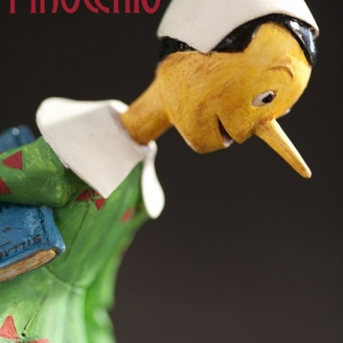 Statua in resina di Pinocchio rifinita e dipinta mano - 5