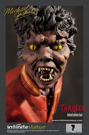 The statue ofMichael Jackson's Thriller -4
