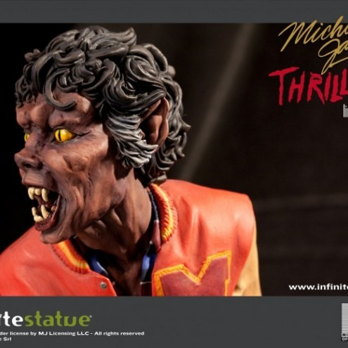 The statue ofMichael Jackson's Thriller -5