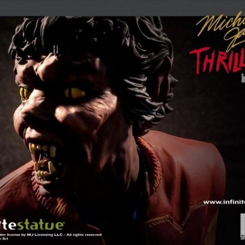 The statue ofMichael Jackson's Thriller -8
