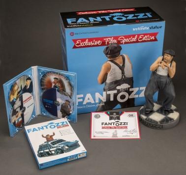 Cofanetto con la statua di Fantozzi e 4 DVD dei suoi film - 2