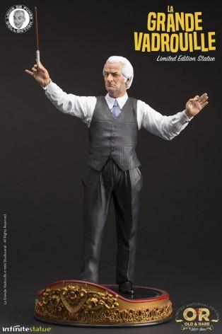 Louis De Funès è Stanislas Lefortstatua in resina - 2