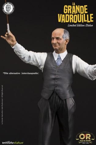 Louis De Funès is Stanislas Lefortresin statue hand-painted - 9