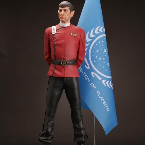 Leonard Nimoy nei panni celebre Capitano Spock - statua - 1