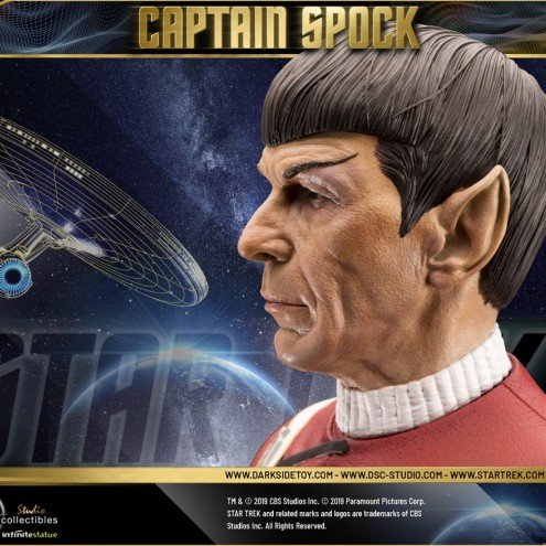 Leonard Nimoy nei panni celebre Capitano Spock - statua-10