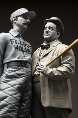 """Abbott & Costello """"Who's on First?""""resin statue - 1"""