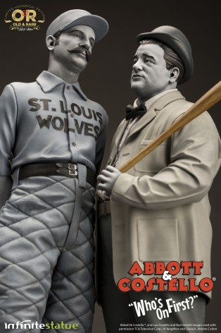 """Abbott & Costello """"Who's on First?""""resin statue - 8"""