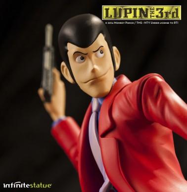 Statua Edizione Limitata Lupin III in resina dipinta a mano - 7