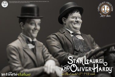 Laurel & Hardy on Ford Model T 1:12 scale resin statue - 5