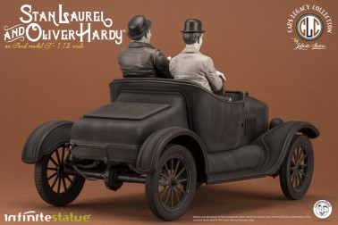 Laurel & Hardy on Ford Model T 1:12 scale resin statue - 7