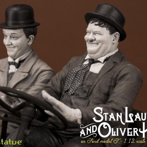 Laurel & Hardy on Ford Model T 1:12 scale resin statue - 13