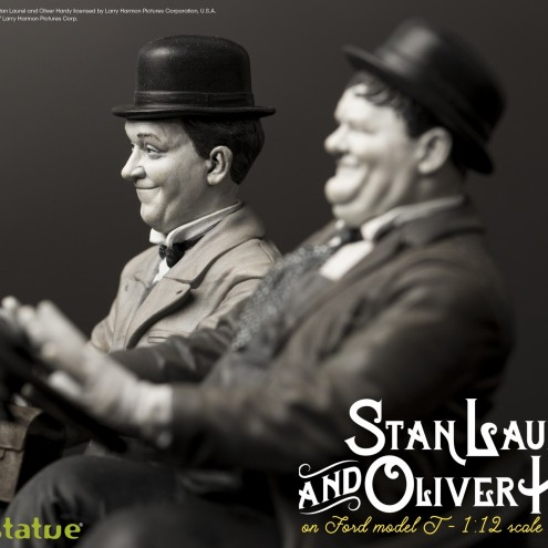 Laurel & Hardy on Ford Model T 1:12 scale resin statue - 17
