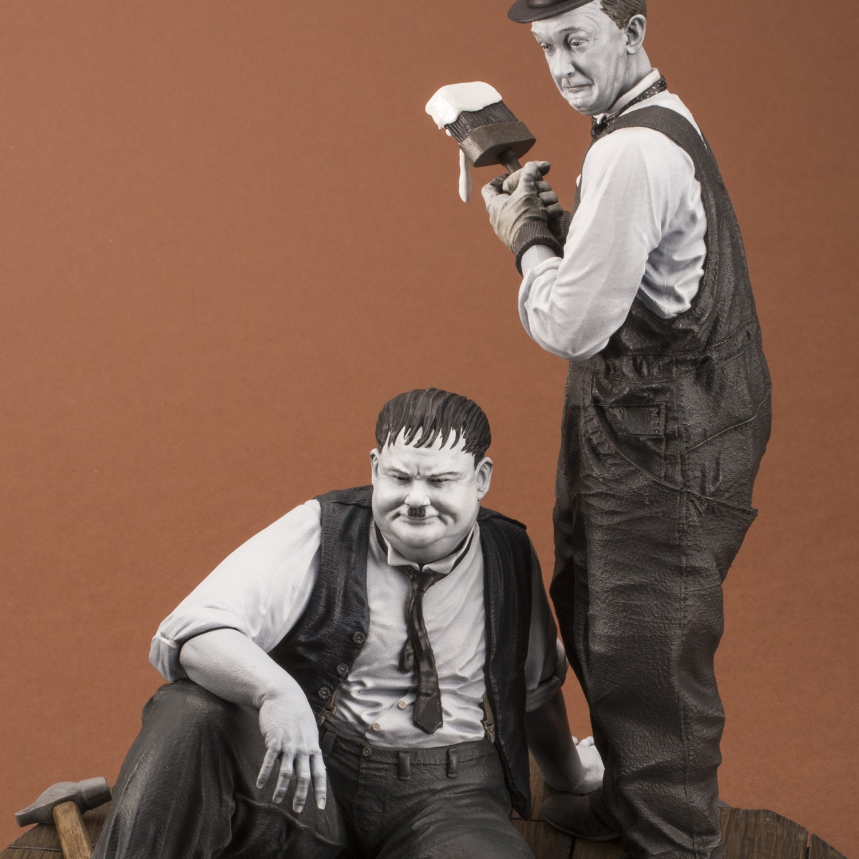 "Statua di Laurel & Hardy ""Another nice mess"" - 12"