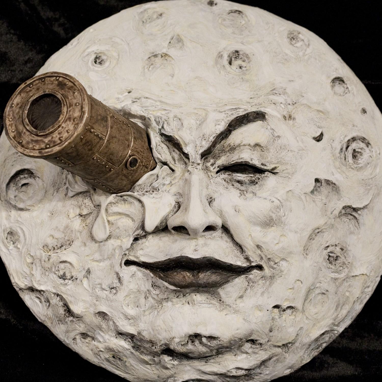 La luna di Mélièsscultura rifinita e dipinta a mano - 6
