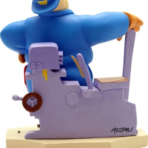 Statua di Cipputi operaio metalmeccanico in tuta blu - 7