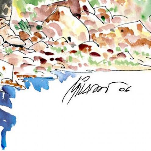 Litografia di Ken Parker numerata e firmata da Ivo Milazzo - 3