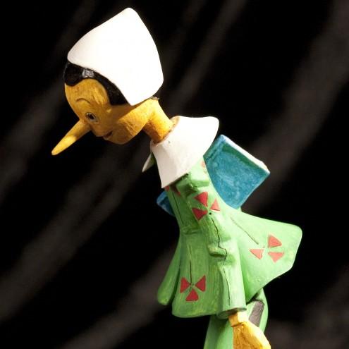 Statua in resina di Pinocchio rifinita e dipinta mano - 6