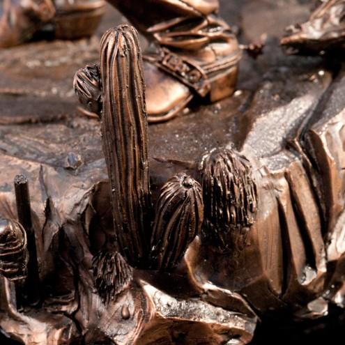 """Statua da collezione di Tex colorazione in """"Bronze EFX"""" - 7"""
